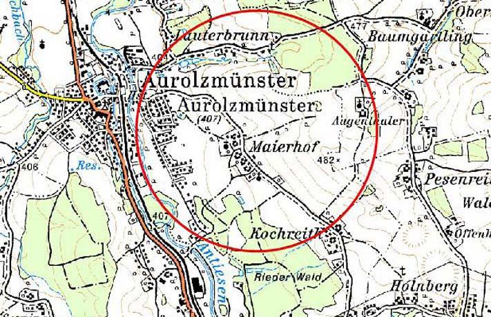 Karte HWS Aurolzmünster