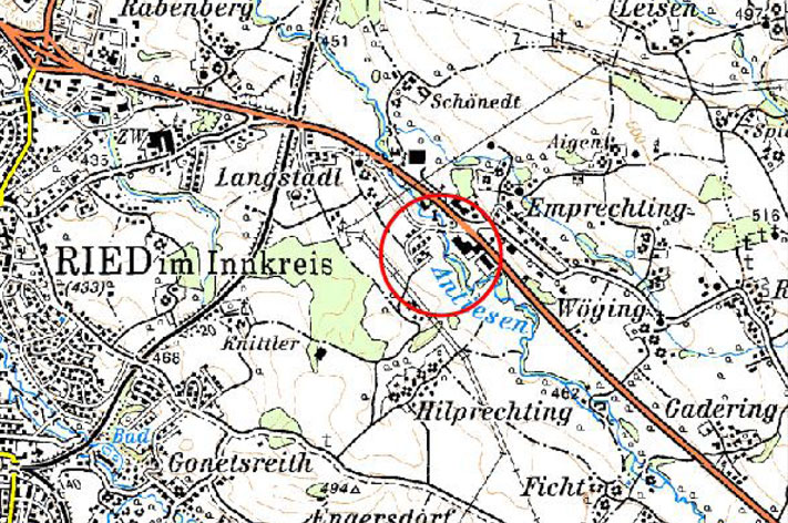 Karte HWS Langstadl