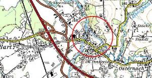 Hochwasserschutz Ort und Reichersberg - Karte
