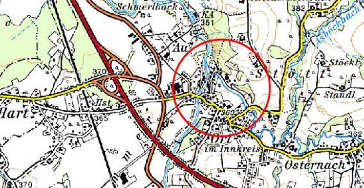 Karte Hochwasserschutz Ort und Reichersberg