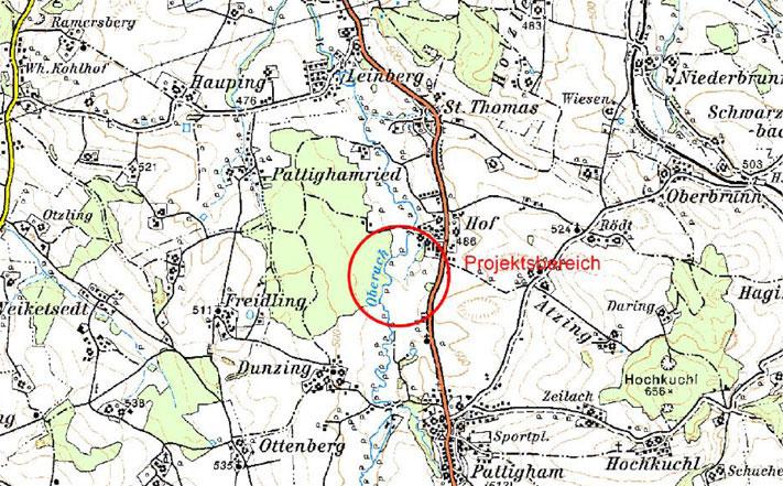 Karte: Rückhaltebecken Hof