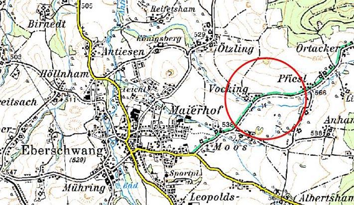 Karte Renaturierung Vockingerbach
