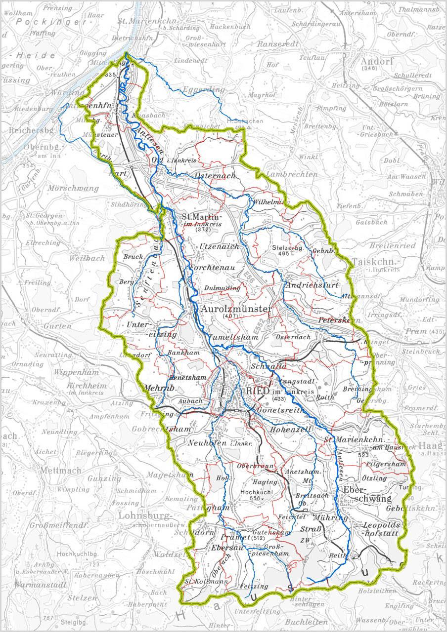 Wasserverband Antiesen - Geografische Lage - Übersichtskarte