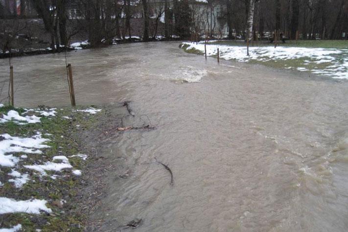 Revitalisierung der Breitsach - Flutmulde im Hochwasserfall